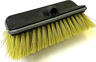 "DocaPole Hard Bristle Deck Brush and Bi-Level Scrub Brush Extension Pole Attachment (11"") | Long Handle Scrub Brush and De..."