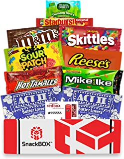 Redbox Movie Night Care Package with Popcorn, Candy and Movie Rental for College Students, Halloween, Gift Ideas, Birthday and Finals (10 Items) From Snack Box
