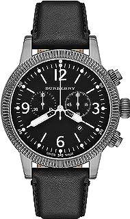 Burberry Swiss TOP Swiss Watch Chronograph Men Women Utilitarian Black Authentic Leather Black Date Dial BU7818
