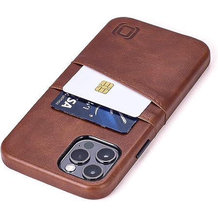 Dockem Exec M2 Funda Cartera para iPhone 12 y iPhone 12 Pro: Funda Tarjetero Slim con Placa de Metal Integrada para Soporte Magnético: Serie M [Marrón]