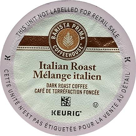 Barista Prima Coffeehouse Italian Roast Coffee K-Cup for Keurig Brewers, Italian Roast Coffee (Count of 96) - Packaging May Vary
