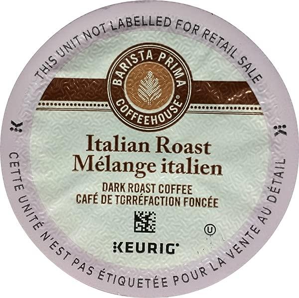 Barista Prima Coffeehouse Italian Roast Coffee K Cup For Keurig Brewers Italian Roast Coffee Count Of 96 Packaging May Vary