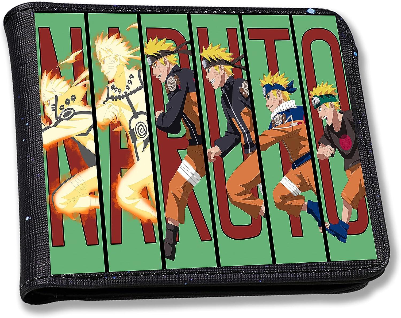 Vagadog Wallet Purse Leather Black for Boys Mens Men Teen Kids Slim Thin Anime Cool Cartoon Design Credit Card Bifold Bi-fold Wallets Character Cute Fashion Minimalist Wallet Purses (Run Boy)