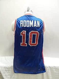 Dennis Rodman Signed Detroit Pistons Blue Autographed Novelty Custom Jersey