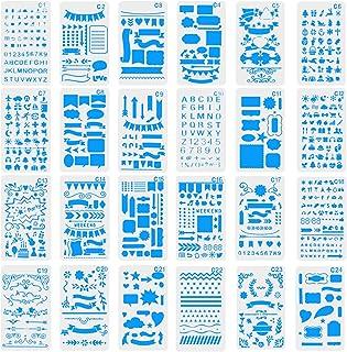 CCMART - Plantillas de plástico para Diario, Cuadernos de Notas, Diarios, Tarjetas y