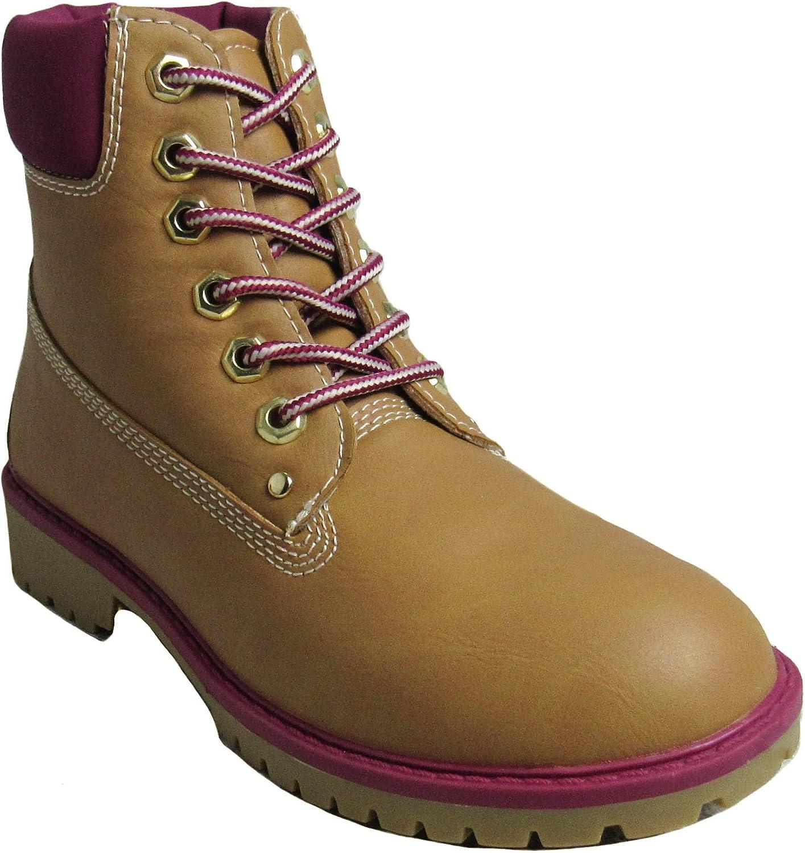 Glaze Womens Zony-1 Tan Fuchsia Boots 6 D(M) US