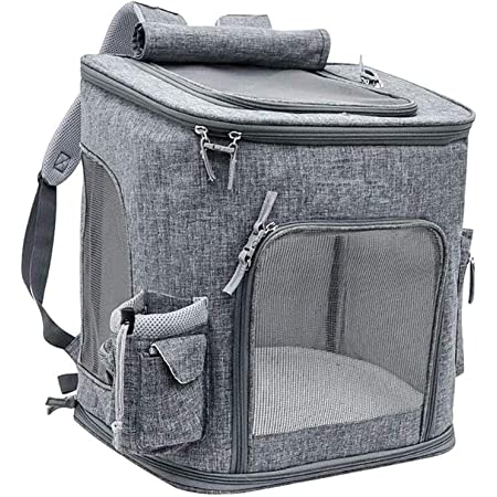 Royale Dog/Cats Backpack, Ideal for 3-10kg Pets, Dog/Cat, Hiking, Travel, Camping, Outdoor Cotton Backpack Grey