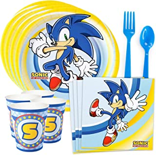 Costume SuperCenter Sonic the Hedgehog Party Supplies (Serves 8)