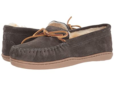 Minnetonka Sheepskin Hardsole Moc (Grey) Women