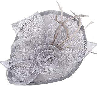 Women Vintage Derby Fascinator Hat Pillbox Headband Feather Cocktail Tea Party