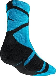 Men's Air Jordan Jumpman Basketball Socks Medium (6-8) Gamma Blue Black