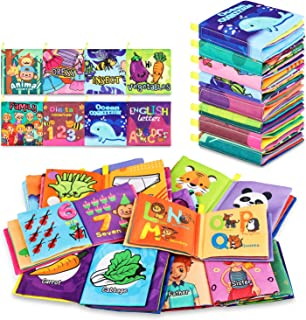 Baby Bath Books,Nontoxic Fabric Baby Cloth Books Early Education Toys,Waterproof Baby Books for Toddler, Infants Perfect C...