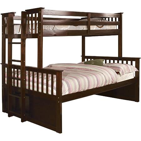 Amazon Com Furniture Of America Pammy Twin Over Queen Bunk Bed Espresso Furniture Decor