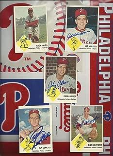 1963 Fleer Baseball Philadelphia Phillies CompleteTeam Set of 5 All Autographed