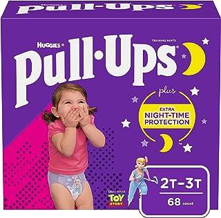 Pull-Ups Night-Time Girls` Training Pants, 2T-3T, 68 Ct
