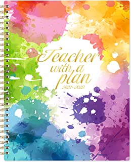 Teacher Planner 2021-2022 - Academic Lesson Planner from July 2021 - June 2022, 8'' x 10'', Lesson Plan Book, Weekly & Mon...