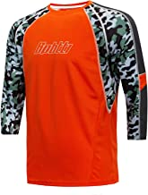 Bpbtti Men's BMX Mountain Bike Shirts 3/4 & Long Sleeve Loose Fit MTB Cycling Iersey-Moisture-Wicking and Breathable