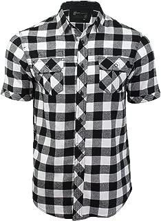 L /& XL Camicia da Uomo dissidente 1h3616 a Righe Casual Manica Corta Cotone S M