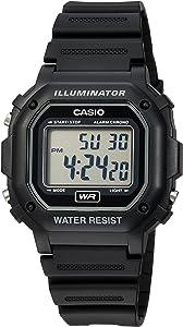 Casio Unisex F-108WH-1ACF Big Square Black Watch