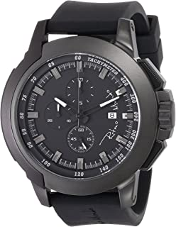 Ritmo Mundo Unisex 1101/1 Stainless Steel and Aluminum Watch with Black Silicone Band