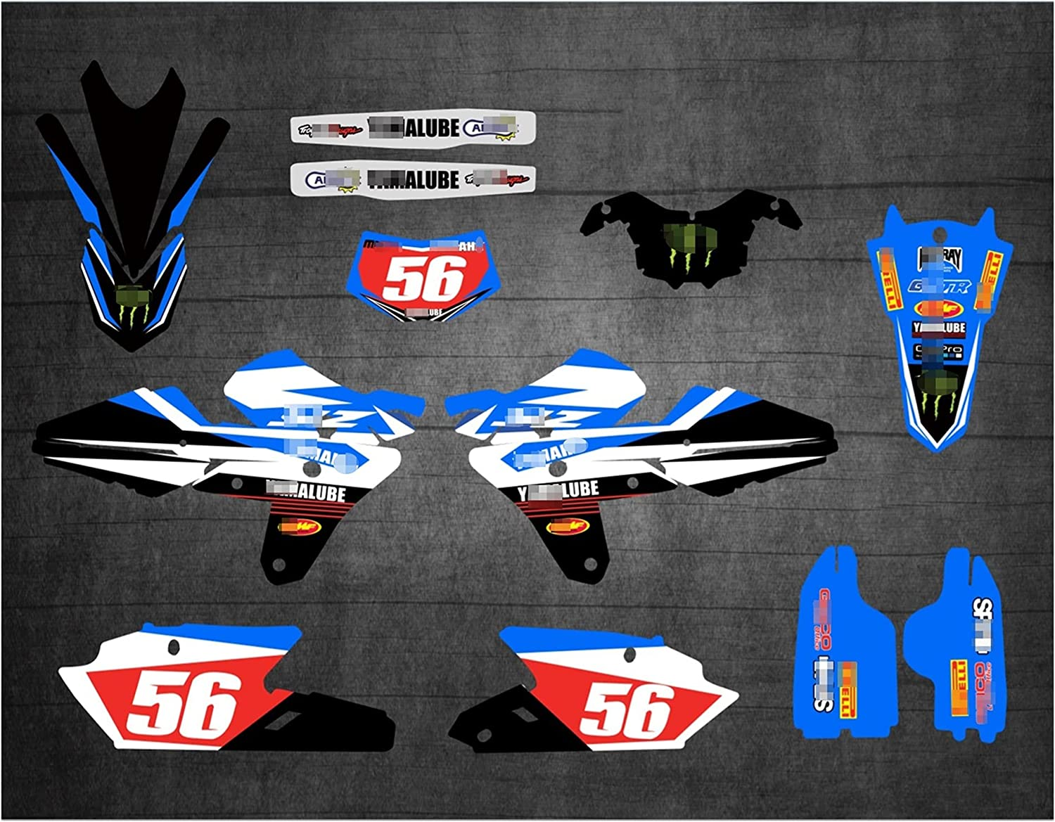 YHYPRESTER XYTZ2611-9 Customized 3M Motorcycle Stickers Decals G Max 90% OFF Indefinitely