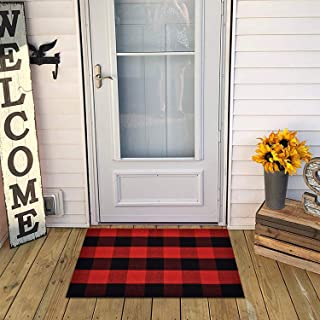 Best red plaid outdoor rug Reviews
