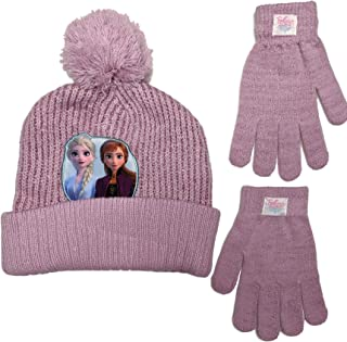 Frozen II 2 Beanie Winter Hat and Mittens Cold Weather...