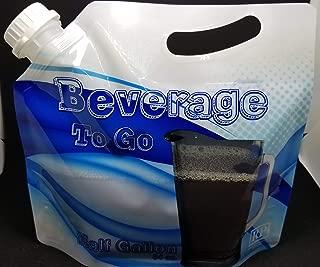 Beverage Bags Drink Carrier Gallon Size Reusable Tamper-Proof Cap Easy Pour Spout Comfort Handle 3 Piece Set Kitchen Drinkware