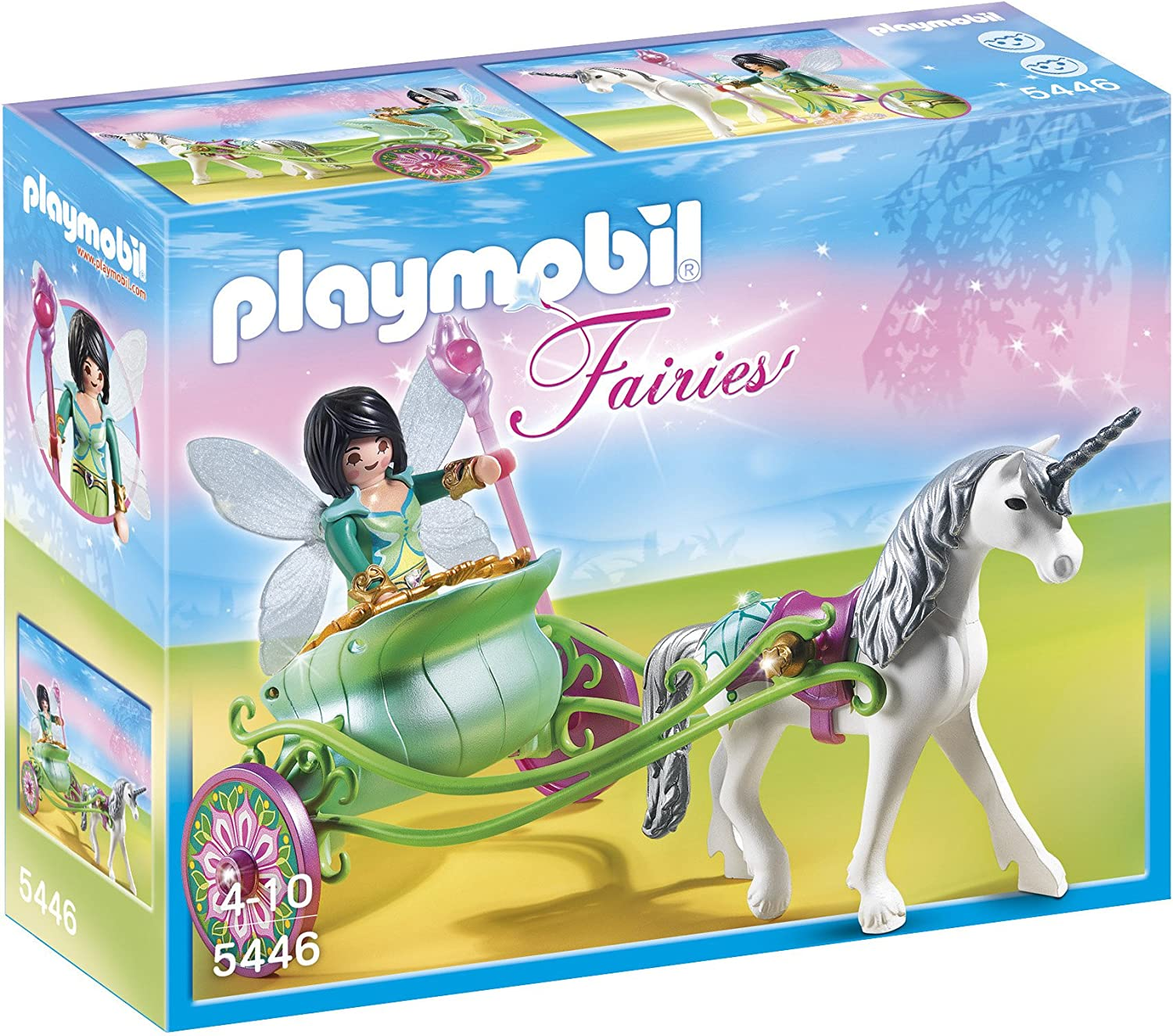 Playmobil Unicorn Carriage with Butterfly Fairy Playset