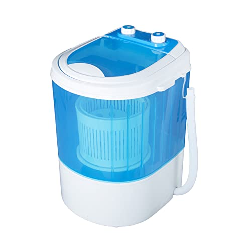 Vetronix Portable Mini Washing Machine 3Kg With Dryer Basket (VMWM2003, Blue) 2 year Warranty