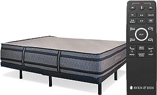 "Sven & Son King Adjustable Bed Base Frame + 14"" Luxury Cool Gel Memory Foam Mattress, Head Up Foot Up, USB Ports, Zero Gravity, Interactive Dual Massage, Wireless, Classic (King)"