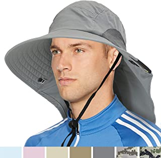 SUN CUBE Outdoor Wide Brim Sun Hat with Neck Cover Flap | UPF 50+ Hat with Sun Protection for Men, Women | Breathable, Foldable Nylon Hat for Hiking, Fishing, Gardening, Safari