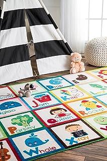 nuLOOM Nursery Alphabet Block Cartoons Kids Area Rugs, 5'...