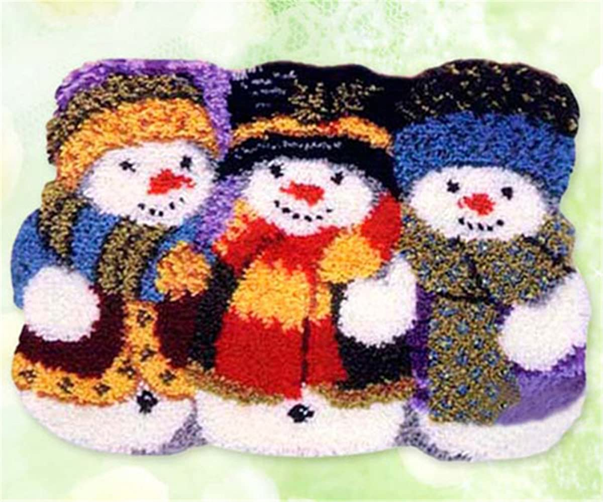 14 Model Christmas Latch Hook Kit Rug Christmas047 21 by 15 Inch