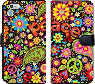 Luxlady iPhone 6 and iPhone 6S Flip Fabric Wallet Case Image ID: 34004326 Wallpaper with Hippie Symbolic