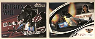 2006/2007 - Powerade Drag Racing Series - Hillary Will - Top Fuel Dragster - KB Racing/Kalitta Air/Girl Power Racing/Mac Tools/Summit - 2 Promo Cards - Out of Print - Collectible