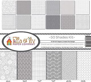 Ella & Viv by Reminisce (ELLLX) EAV-1183 50 Shades Scrapbook Collection Kit, Multi Color Palette