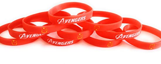 GLOW IN THE DARK – IRON MAN Inspired Bracelets Kids Birthday Party Favors (10 pack)