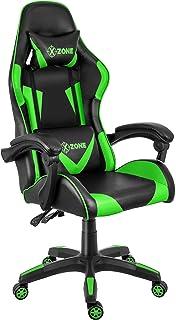 Cadeira Gamer Azul Reclinável e Giratória