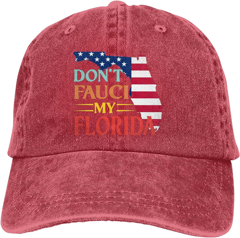 Don't Fauci My Florida 2024 for Patriotic Hat Adjustable Baseball Cap Unisex Washable Trucker Cap Dad Hat
