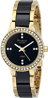 Armitron Women's 75/5210BKGPBK Swarovski Crystal-Accented Watch