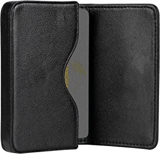 MaxGear Leather Business Card Holder Pocket Business Card Case Professional Portable Business Cards Wallet Business Card Holders Box with Magnetic Shut for Men and Women, RFID-Blocking, Black