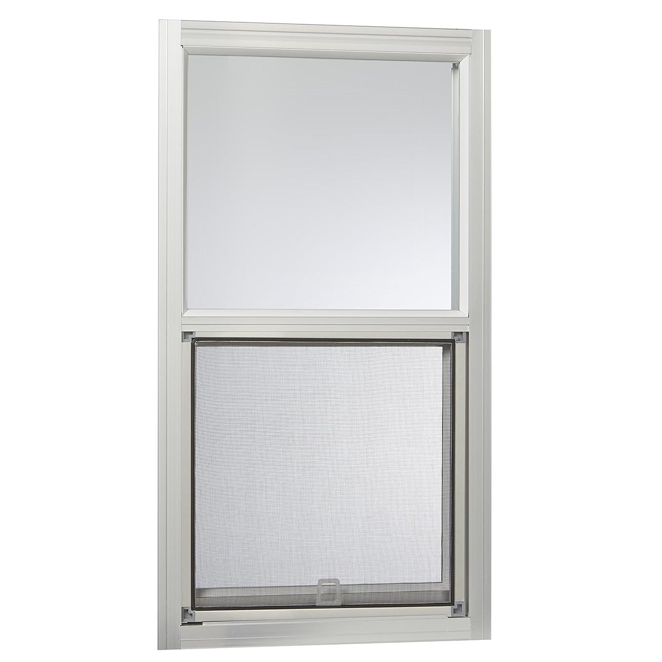 Park Ridge Products AMHMF1427PR Park Ridge Mill Finish 14 in. x 27 in. Aluminum Mobile Home Single Hung Window – Silver,