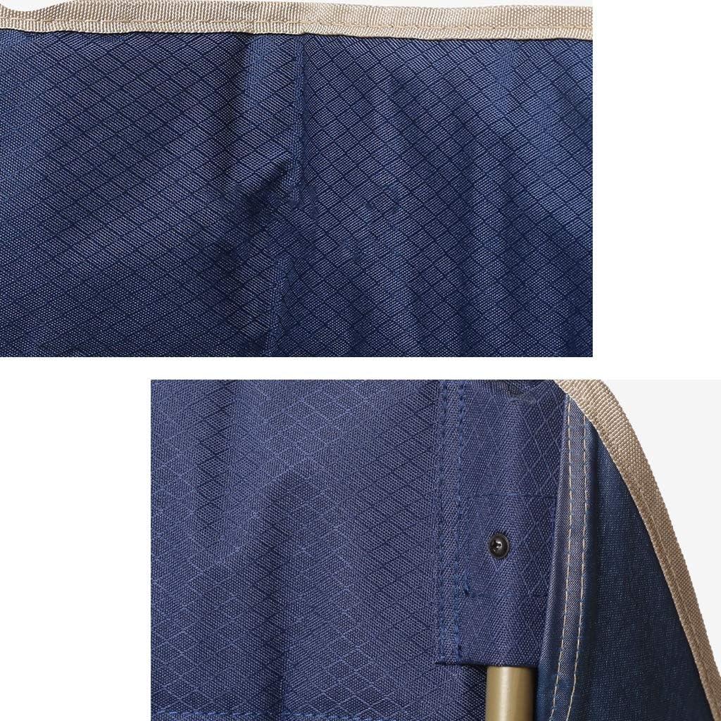 Chaise Longues En Plein Air Pliant Chaises De Camping Avec Porte-gobelets Et Poche Portable La Pêche Les Loisirs Moon Chair, 2 Couleurs (Color : Blue) Blue