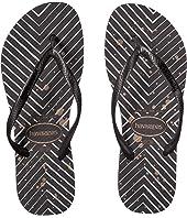 Slim Logo Metallic Sandal