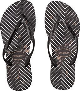 Slim Logo Metallic Sandal