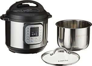 Instant Pot Duo 7-in-1 Electric Pressure Cooker with Tempered Glass Lid and 2 Stainless Steel Pot