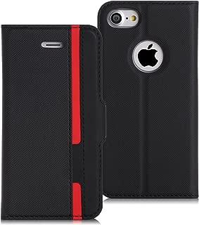 FYY スマホケース iPhone8 ケース iPhone7ケース 薄型 軽量 手帳型 保護ケース [スキミング防止機能] カードポケット付き スタンド機能付き マグネット式 PUレザー【4.7インチ】 iPhone 8/7 兼用