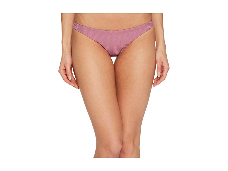Vitamin A Swimwear Luciana Full Coverage Bottom (Rose Rib) Women