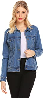 EASTHER Women's Denim Jacket Classic Button Down Jean Denim Jacket with Pockets